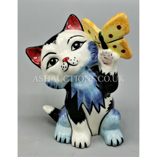 94 - LORNA BAILEY MODEL OF BUTTERFLY THE CAT  Signed By Lorna Bailey...