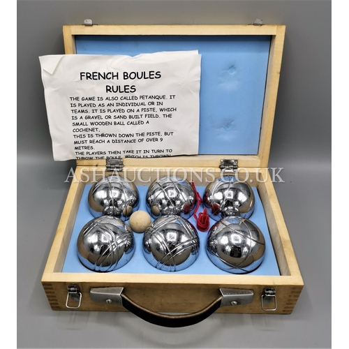 101 - TRADITIONAL FRENCH BOULES SET. (Please Note this Lot WILL NOT BE POSTED...PICK UP ONLY !!!)...