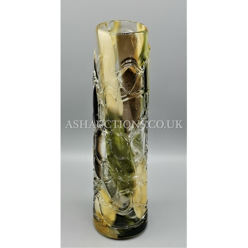102 - ART GLASS Tall VASE. (Please Note this Lot WILL NOT BE PACKED OR POSTED...PICK UP ONLY, AS IS !!!)...