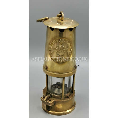 14 - BRASS ECCLES MINERS LAMP...