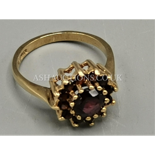 20A - PRESENTED AS A 9ct GOLD (375) STONE SET RING (Weight 2.9 Grams)...