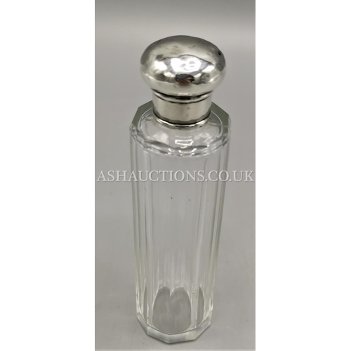 22 - PRESENTED AS A SOLID SILVER PERFUME BOTTLE (Original Stopper) (Hallmarked For London )...