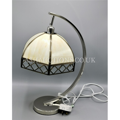 24 - CHROME RETRO LAMP  (Please Note This Lot WILL NOT BE PACKED OR POSTED...PICK UP ONLY, AS IS !!!)...
