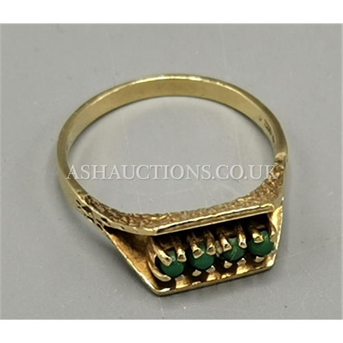 25A - PRESENTED AS A 9ct GOLD (375) STONE SET RING (Weight 3.4 Grams)...