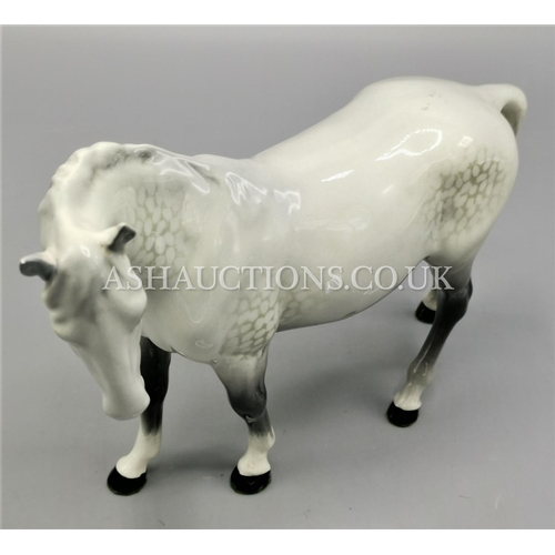 26 - BESWICK Large 17.2cm MODEL OF A MARE (Facing Left) Model No 976 (Grey Gloss Colourway) 1962/89 Desig...