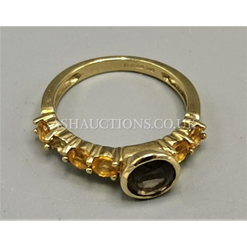30A - PRESENTED AS A 9ct GOLD (375) STONE SET RING (Weight 2.4 Grams)...