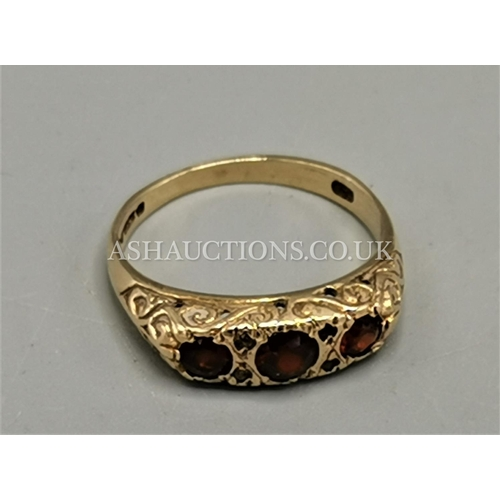 35A - PRESENTED AS A 9ct GOLD STONE SET RING (Weight 2.4 Grams)...