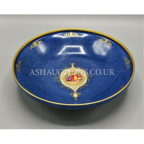 38 - ROYAL WORCESTER CHINA (Hand Painted) FRUIT BOWL (Signed)...