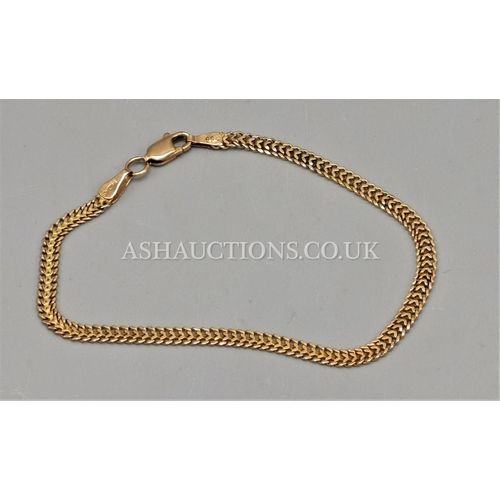 40 - PRESENTED AS A GOLD LADIES BRACELET (Marked .585)...