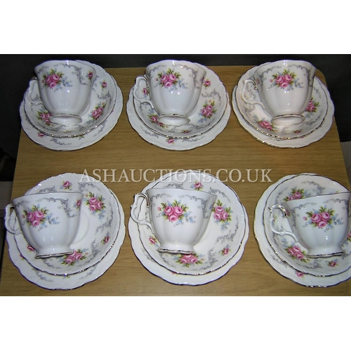 5A - ROYAL ALBERT CHINA 18 PIECE TEA SET IN THE TRANQUILLITY DESIGN...