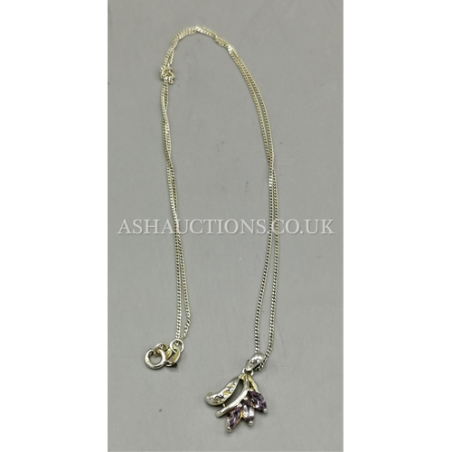 60F - PRESENTED AS A SILVER (925) STONE SET PENDANT On CHAIN...