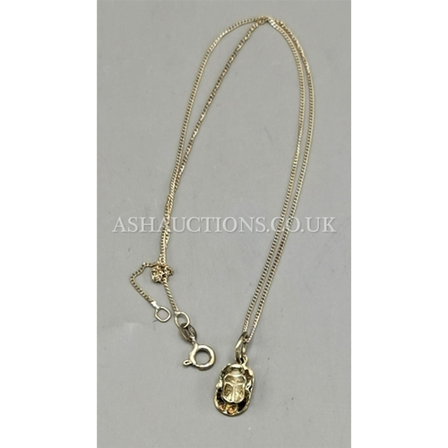 60G - PRESENTED AS A SILVER (925) BEETLE PENDANT On CHAIN...