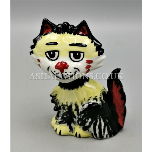 68 - LORNA BAILEY MODEL OF SHAGGY THE CAT Signed By Lorna Bailey...