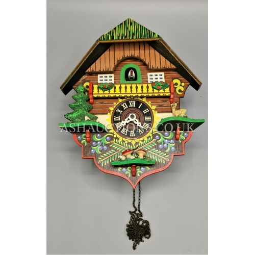 70A - WOODEN CUCKOO CLOCK. (Please Note This Lot WILL NOT BE PACKED OR POSTED...PICK UP ONLY, AS IS !!!)...
