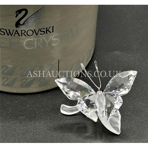 75 - PRESENTED AS SWAROVSKI BUTTERFLY ON LEAF FROM THE IN THE SECRET GARDEN SERIES (Retired 2011, Boxed, ...
