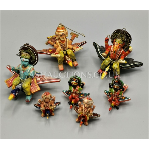 75A - WOODEN LUCKY DECORATIONS (7)...