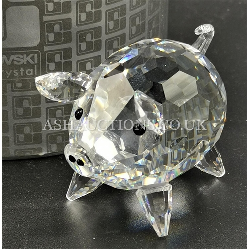 80 - PRESENTED AS A SWAROVSKI CRYSTAL Large PIGGY (Retired 1983)(Boxed) R.R.P. £125.00 When Available)...