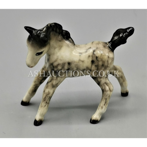 80A - BESWICK Model Of FOAL, Model No 996. Small Gambollin, Facing Left. ROCKING HORSE GREY GLOSS COLOURWA...