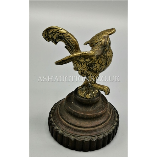 10 - BRONZE/BRASS 16cm 20th CENTURY BARD ON A STAND...