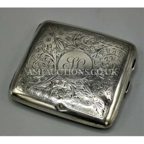10A - PRESENTED AS A SILVER CIGARETTE CASE (Hallmarked for Birmingham)...