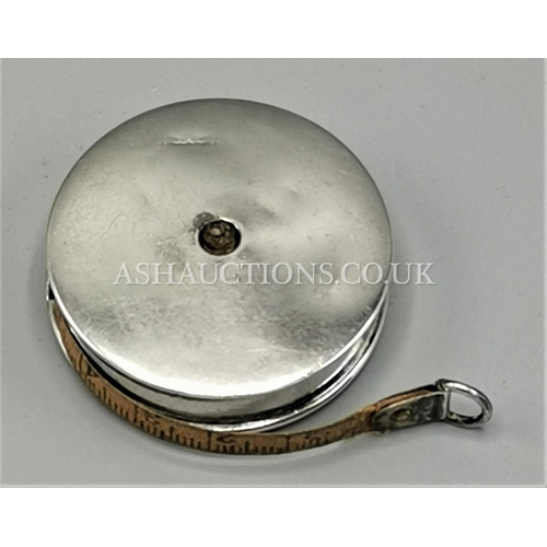 14 - PRESENTED AS A SILVER MEASURING TAPE (Rare) (Hallmarked for Chester) (c.1910)...