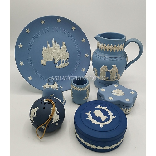 26 - BLUE JASPER WARE ITEMS Inc WEDGWOOD & DUDSONS...