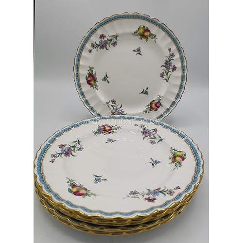 36 - SPODE CHINA 20cm Dia PLATES (6) IN TRAPNELL SPRAYS DESIGN...