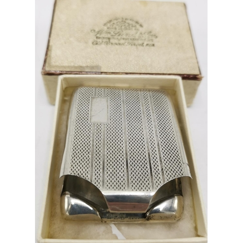 56 - PRESENTED AS A SILVER MATCHBOOK HOLDER (Hallmarked For Birmingham 1931)  (Total Weight 23.7 Grams)...