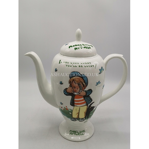 12 - SHELLEY CHINA MABEL LUSIE ATTWELL COFFEE POT...