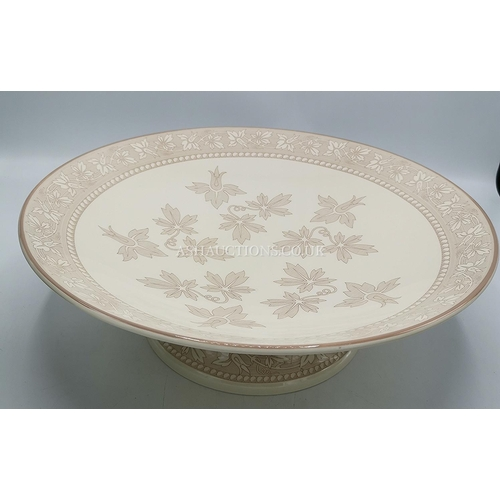 24 - WEDGWOOD Ex Large 36cm Dia PEDISTAL BOWL FROM THE INTERIORS COLLECTION  (Please Note This LOT IS COL...