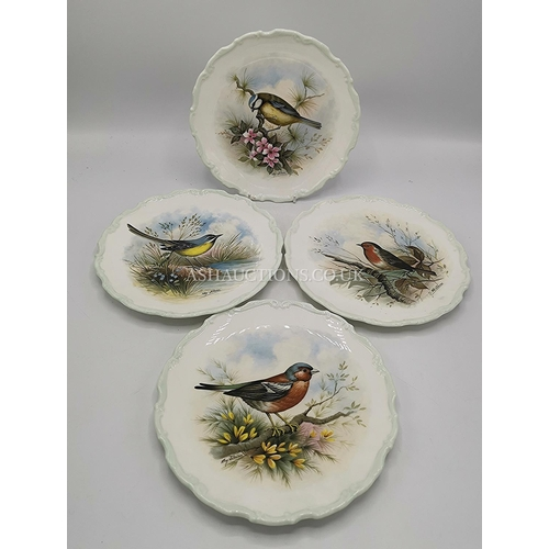46 - ROYAL ALBERT CHINA PLATES (4) FROM THE WOODLAND BIRDS SERIES  c1974...