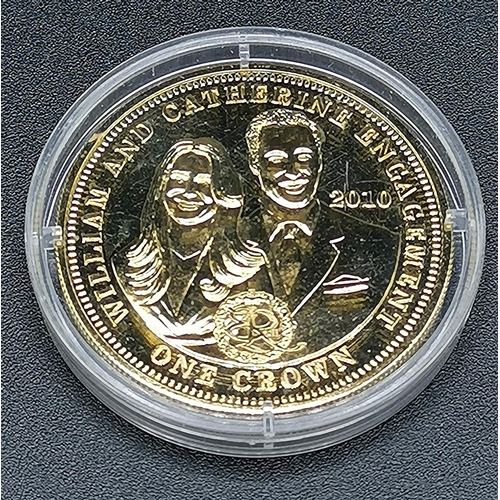17 - CROWN COIN COMMEMORATING PRINCE WILLIAMS & CATHERINE'S ENGAGEMENT...