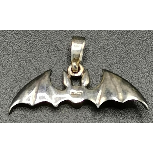 25A - PRESENTED AS A SILVER (925) BAT PENDANT(Size 3cm Weight 1.79 Grams)...