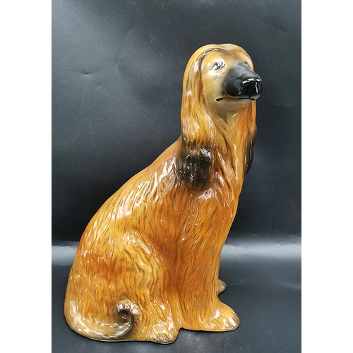 34 - CAPSTAN POTTERY Extra Large 30cm MODEL OF AN AFGHAN HOUND