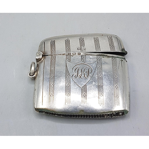 36 - PRESENTED AS A SILVER VESTA CASE (Hallmarked For Birmingham 1916) By Makers Rolason Bros  (Weight 17...