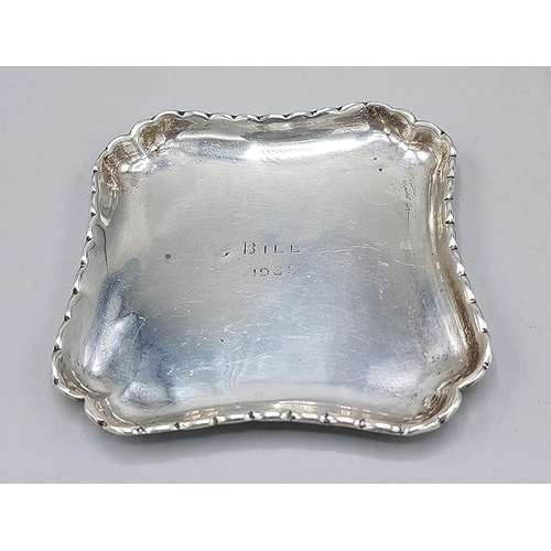 37 - PRESENTED AS A SOLID SILVER PIN DISH (Hallmarked For London 1927) By R.C. (Weight 37.8 Grams)...