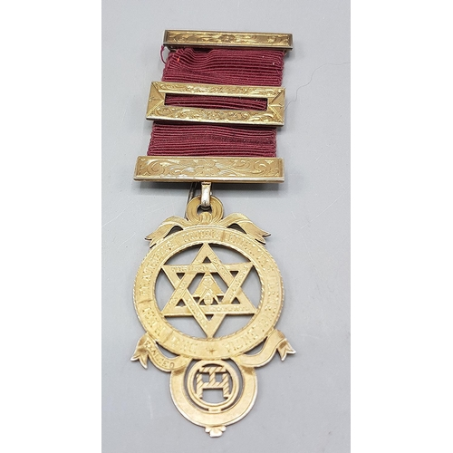 38 - PRESENTED AS A SILVER MASONS MEDAL (Hallmarked For London 1906) (Weight 20 Grams)