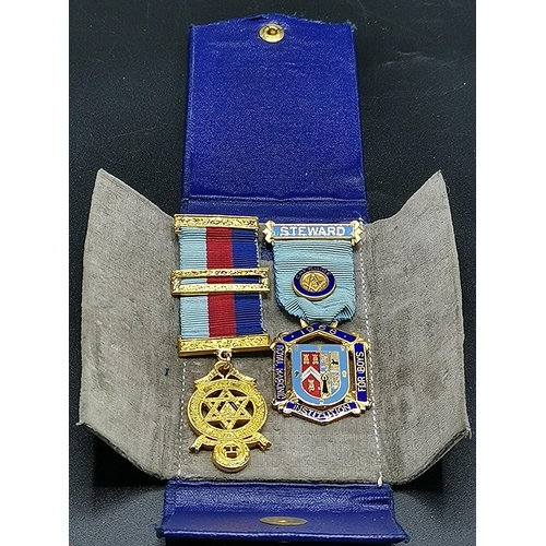 42 - MASON'S MEDALS (2) With CASE...