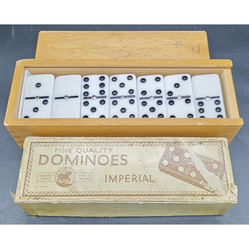 50 - IVORINE DOMINOES & ONE OTHER...