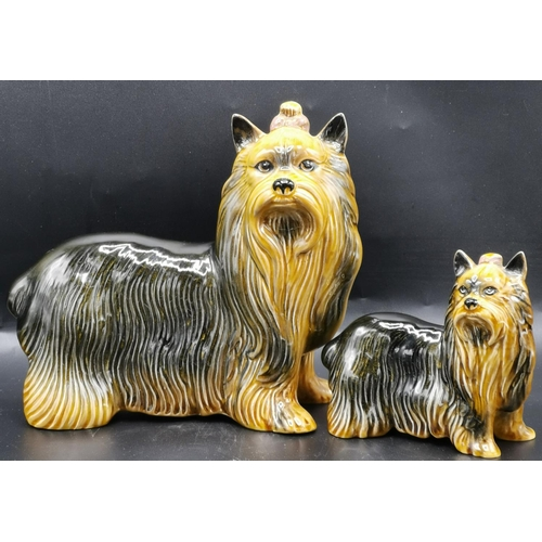 55 - COOPERCRAFT MODELS OF TWO YORKSHIRE TERRIERS...