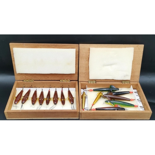 57 - SALMON LURES (Two Boxes Of) (Old)...