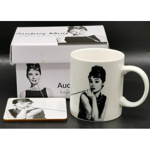 58 - AUDREY HEPBURN MUG/COASTER (As New, Original Box)...