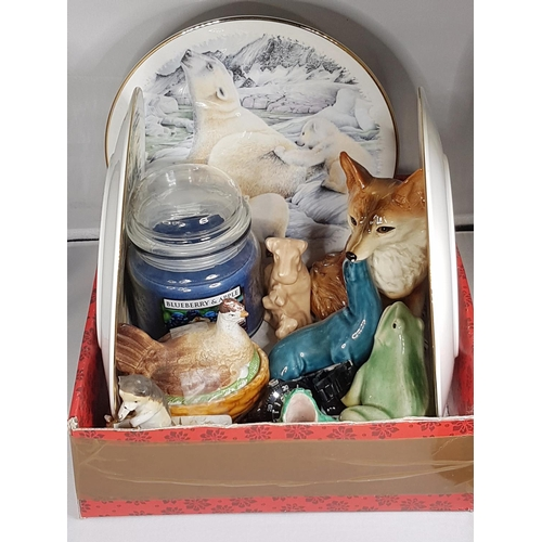 6 - BOX CONTAINING A Qty Of COLLECTABLE CHINA/PORCELAIN ITEMS Etc...