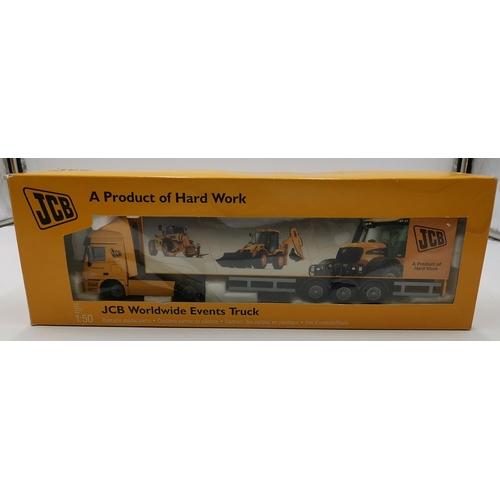 48 - J.C.B. 1:50 Scale MODEL OF  THE WORLDWIDE EVENTS TRUCK (Original Box)...