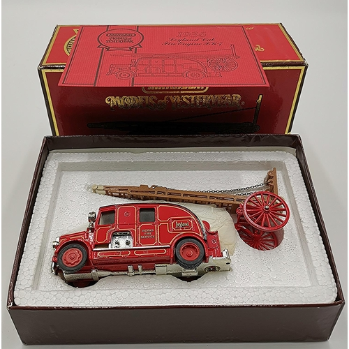 52 - MATCHBOX MODEL OF A YS-9 1936 LEYLAND CUB FIRE ENGINE FK-7 FROM THE MODELS OF YESTERYEAR COLLECTION ...