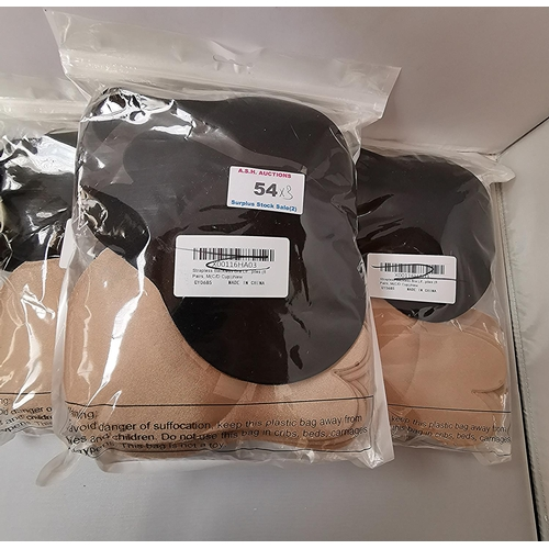 54 - STRAPLESS BRAS (3) (As New Sealed)