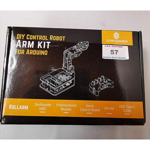 57 - SUNFOUNDER DIY CONTROL ROBOT ARM KIT For ARDUINO (Boxed)