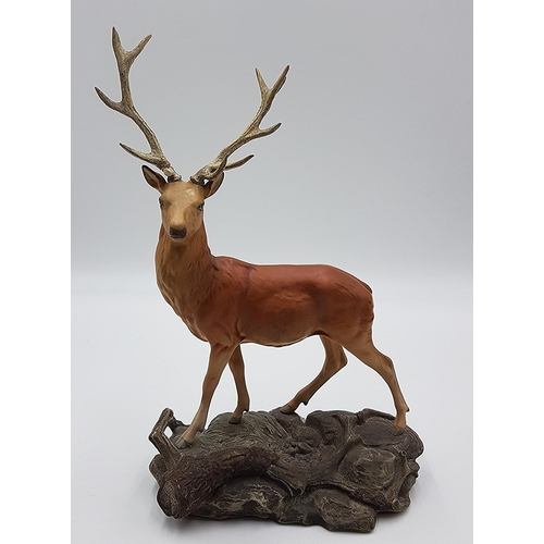 38 - BESWICK Extra Large 34.3cm MODEL OF A STAG  Model No 2629 1978/80 Designed By Mr Graham Tongue FOR T...