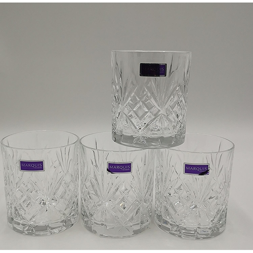 679 - WATERFORD CRYSTAL (Boxed Set Of Four) TUMBLERS IN THE MAXWELL DESIGN...