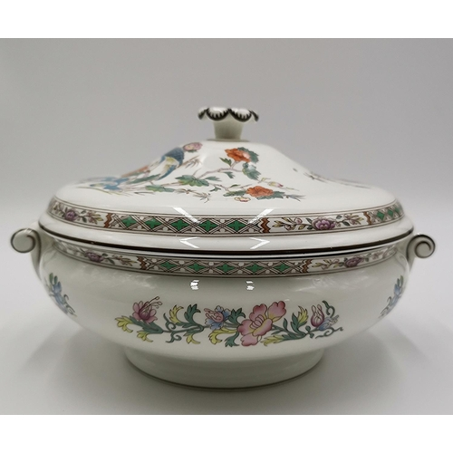 685 - WEDGWOOD CHINA LIDDED TUREEN IN THE KUTANI CRANE DESIGN (Hairline To Lid)...